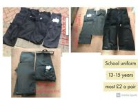 boys school trousers 8-16 years shorts 8 years and 11-12
