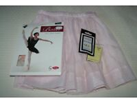 Pink Ballet Skirt (Royal Academy of Dance) with tights and hair accessories (approx age 5 Years old)