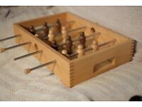 Traditional Wooden Table Football Set - Desktop Toy