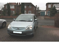 Honda Civic SE 1.4 Automatic, 2001, 5 door, Low Milage. 1 owner
