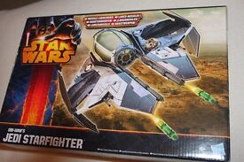 "STAR WARS Obi-Wan's Jedi Starfighter Class II Vehicle (Hasbro A5736) (for 3.75"" figures) NEW IN BOX"