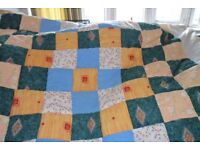Double throwover quilt