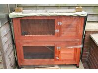 Rabbit / Guinea Pig Hutch Two Tiers.