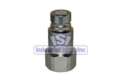 Quick Coupler Iso 16028 Flat Face Male 12 Plug X 34 Npt Pipe Thread