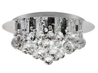 Modern Crystal Droplet Chandelier Ceiling Decoration Lamp - brand new in box