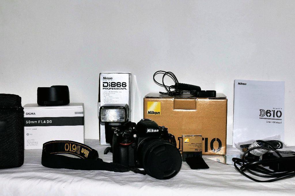 Full frame kit - Nikon D610, Sigma 50mm 1.4 DG Art lens and ...