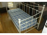 beautiful metal day bed with mattress