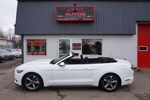 2016 Ford Mustang BLANC V6 3.7L AUTOMATIQUE CONVERTIBLE 11 600 K