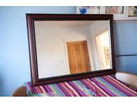 Large wooden antique mirror