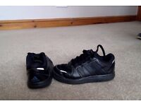 Childrens black Adidas Trainers size 10.5