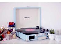 Blue Crosley Record Player