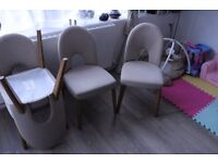 4x beautiful beige dining chairs