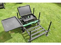 Senses Fishing Seat Box with tray and extending platform