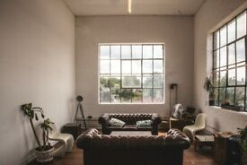 Spacious studio / office / workshops available in South London Victorian warehouse conversion