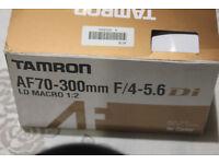 Canon Lens Tamron 70 300 Macro Telephoto New Condition Lens