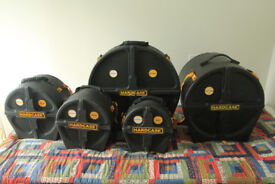 Drum cases by HARDCASE - £100 3 Toms, and Ground Tom