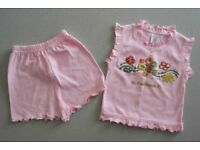 New baby girls holiday set & 2 underwear tops (age 3-6 months)