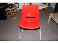 Red Plastic Chair (ikea)- good condition