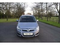 2010 Vauxhall Zafira Exclusiv 1.6 Petrol, 7 seat, Low mileages