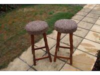 Two vintage bar stools