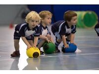 Rugbytots classes for 2-5 year olds at Impulse Leisure, Lancing on Monday mornings