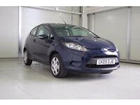 2009 Ford Fiesta 1.25 Style 3dr,Parking Sensors, Low Mileage, One Previous Owner