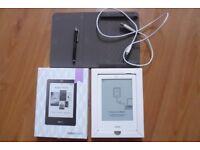 Kobo N905-KJP-L E-Reader Boxed Mint Condition + Case + Stylus