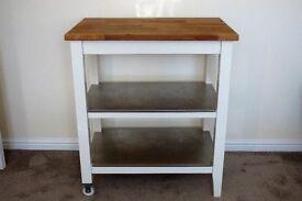 White Ikea stenstorp kitchen trolley/work top