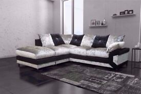 🎄✨ SUPERB DINO SOFA ✨🎄 AVAILABLE IN CRUSHED VELVET ✨🎄 3+2 OR CORNER ✨🎄 EXPRESS DELIVERY ✨🎄