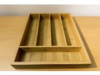 Homebase Bamboo Cutlery Tray (model 88045)