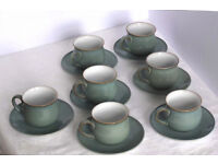 7 Denby coffee cups + saucers