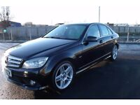 "MERCEDES C220 CDI SPORT AUTO 2009 ""59"" REG 58,000 MILES FACTORY BLACK METALLIC WITH BLACK LEATHER"