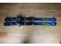Salomon 3V Junior Race Skis 130cm and Salomon Ski Bag