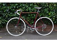 1984 Vintage Peugeot racing bike in maroon