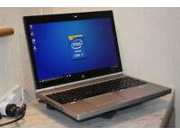 """Great spec aluminium HP EliteBook 15.6"""" Core i7 laptop. 12GB DDR3 RAM. 500GB hard drive. USB 3.0."""
