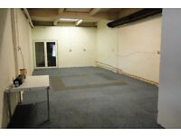 Self contained 1400sq.ft storage/workshop unit. Gas heating. 3Ph. electric. Own parking and loading.