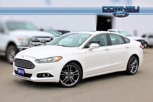 2013 Ford Fusion TITANIUM! HTD LEATHER! NAV! AWD! 2.0L ECO