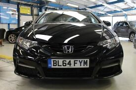 Honda Civic I-DTEC S [75 MPG & £0 ROAD TAX!] (midnight black) 2014