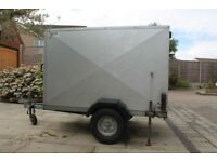 Galvanised box trailer with roller shutter door, 6x4x4