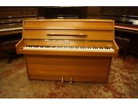 modern Kemble upright piano in very good condition, tuned and UK delivery available
