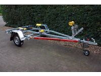 NEW Boat Trailer 4.0m 500kg - Adjustable Drawbar - Keel Rollers - Side Supports - Winch - TEMA