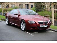 2005 BMW E63 M6 5.0 V10 507BHP INDIANAPOLIS RED SMG HPI CLR FSH MOT 1 OWNER LOW MILEAGE M2 M3 M4 M5