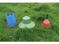Pheasant or poultry feeders and drinkers