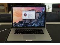 """MacBook pro (late 2013) 15.4"""" 2.3GHz quad core i7 16GB 512GB retina A1398"""