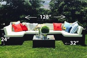 Outdoor Patio Wicker Furniture Set ALUMINUM FRAME conversation set 6476998240