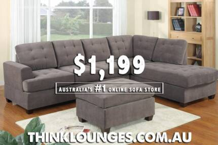 DISCOUNTED LOUNGE SOFA with CHAISE & OTTOMAN City North Canberra Preview