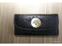 Mulberry black ostrich leather look purse - 20cms x 10cms