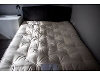 Black Faux Leather Bedframe