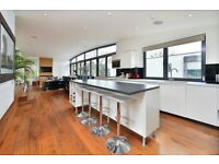 COLEMAN FIELDS, N1: 3 BEDROOMS - PENTHOUSE - PRIVATE DECKED ROOF TERRACE - DOUBLE HEIGHT CEILINGS!