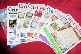 Selection of Needlecraft Cross Stitch Sewing Magazines / Books, 7 BOOKS, Histon
